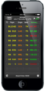 Picture of flight board